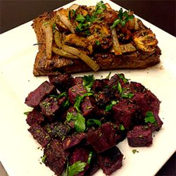 Picture of Flank Steak Purple Sweet Potatoes