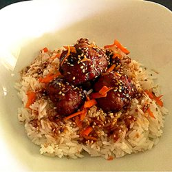 Picture of Pineapple Teriyaki Chicken Meatballs