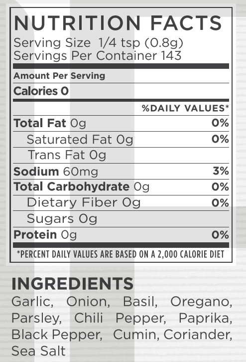 All Purpose Nutritional Facts