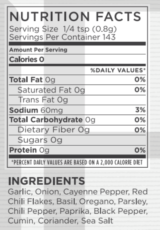 Spicy Nutritional Facts