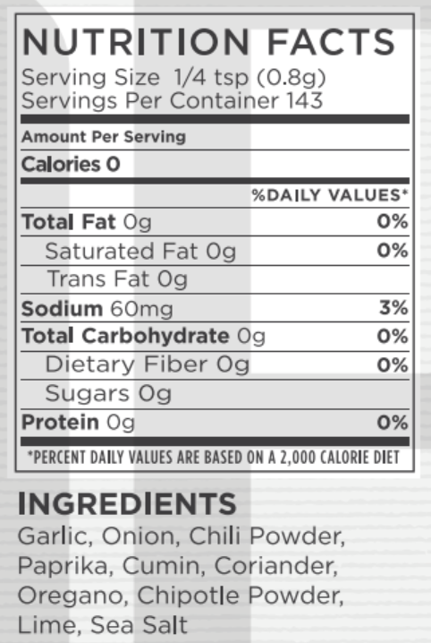 Taco Bout It Nutritional Facts